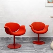 Pair of Little Tulip lounge chairs by Pierre Paulin for Artifort, 1960s