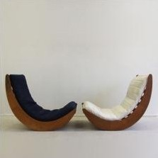 2 x relaxer 2 rocking chair by verner panton for rosenthal 1970s