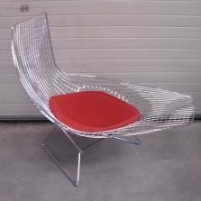 Asymmetric Chaise Lounge Chair By Harry Bertoia For Knoll