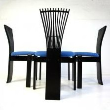 4 Totem dinner chairs from the eighties by Torstein Nilsen for Westnofa