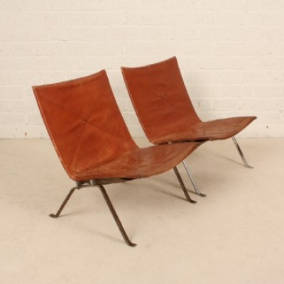 2 X PK22 Lounge Chair By Poul Kjærholm For E. Kold Christensen, 1950s
