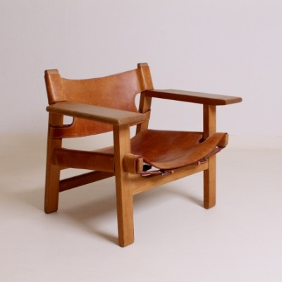 Spanish Chair Lounge Chair By Børge Mogensen For Fredericia, 1950s