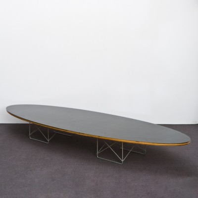 ETR Elliptical Surfboard Coffee Table By Charles And Ray Eames For Herman Mil