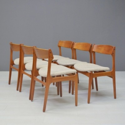 Set of 6 dinner chairs by Erik Buck for OD M¸bler
