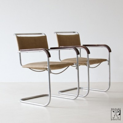 Fabulous 2 X B34 Dining Chair By Marcel Breuer For Thonet Mundus Pdpeps Interior Chair Design Pdpepsorg