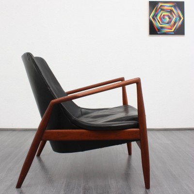 Seal Lounge Chair By Ib Kofod Larsen For OPE, 1940s