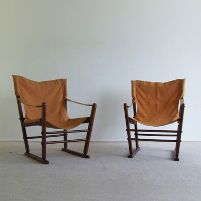 Merveilleux Pair Of Gold Medal Folding Furniture Co Lounge Chairs, 1970s