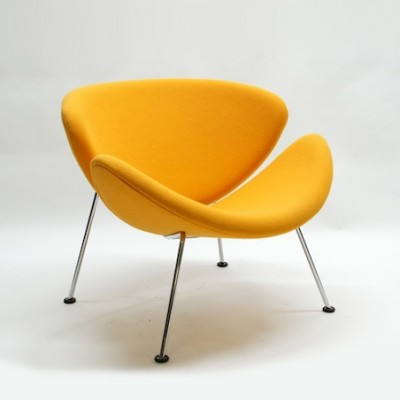 2 X Orange Slice Lounge Chair By Pierre Paulin For Artifort
