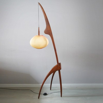 praying mantis floor lamp by j rispal for rispal 7100. Black Bedroom Furniture Sets. Home Design Ideas