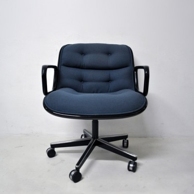 4 x office chaircharles pollock for knoll international, 1960s