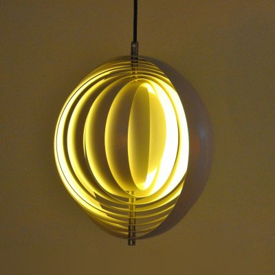 Charming Moon Hanging Lamp By Verner Panton For Louis Poulsen, 1960s