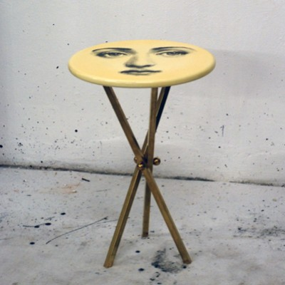 Lovely Tema E Variazioni Side Table By Piero Fornasetti For Fornasetti Milano,  1960s