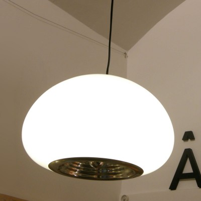 black and white hanging lamp by achille giacomo castiglioni and pier