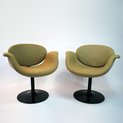 Ordinaire Pair Of Little Tulip Lounge Chairs By Pierre Paulin For Artifort, 1960s