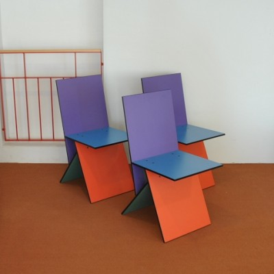 3 X Vilbert Dinner Chair By Verner Panton For IKEA 1990s