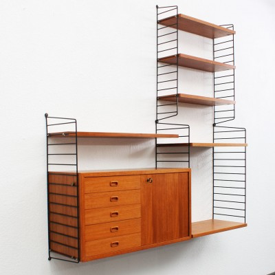 Nisse Strinning wall unit by nisse strinning for string design ab 1960s 10496