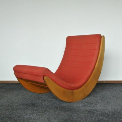 relaxer 2 rocking chair by verner panton for rosenthal 1970s 11699