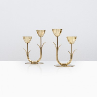 Candle Holder by Gunnar Ander for Ystad Metall