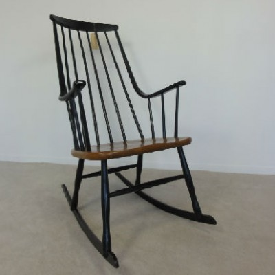 Rocking Chair By Lena Larsson For Grandessa, 1960s