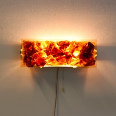 4222 Kristall-Bronze Glass G692 wall lamp by Cosack, 1960s
