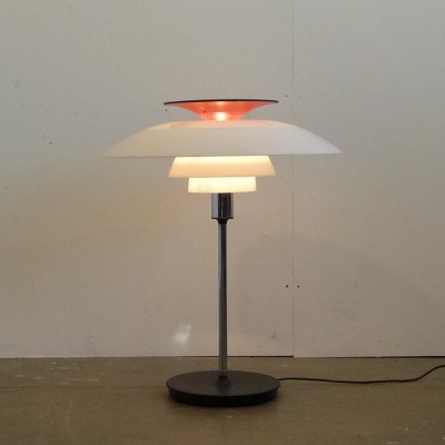 ph 80 desk lamp by poul henningsen for louis poulsen 1970s 14000. Black Bedroom Furniture Sets. Home Design Ideas
