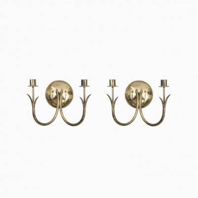 Wall candlesticks by Gunnar Ander for Ystad Metall