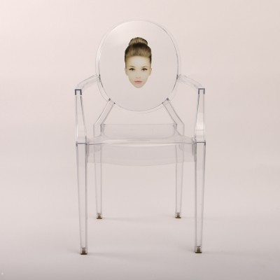Louis Ghost dinner chair by Philippe Starck for Kartell 1990s