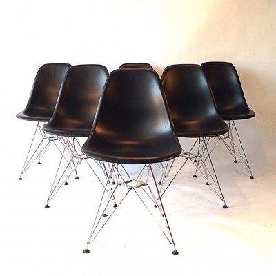 Perfect Set Of 8 DSR Eiffel Dinner Chairs By Charles U0026 Ray Eames For Vitra, 1990s