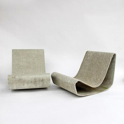 Awe Inspiring Pair Of Loop Lounge Chairs By Willy Guhl For Eternit Sa Customarchery Wood Chair Design Ideas Customarcherynet