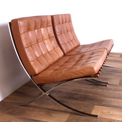 Pair Of Barcelona Lounge Chairs By Ludwig Mies Van Der Rohe For