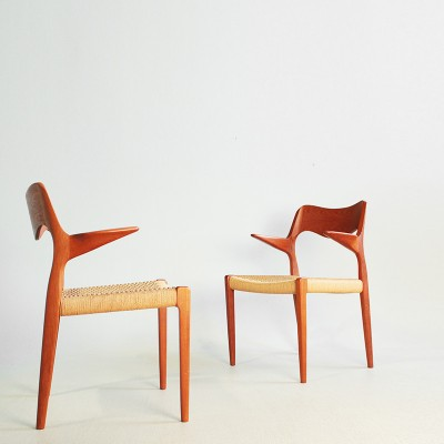 Model 55 Dinner Chair by Niels Otto Møller for J L Møller