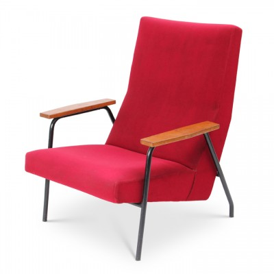 Ottoman and Chair Lounge Chair by Pierre Guariche for Meurop