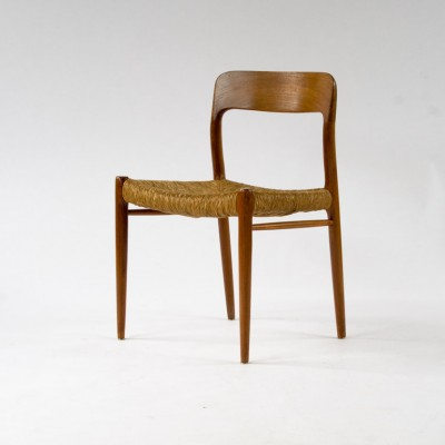 Model 75 Dinner Chair by Niels Otto Møller for J L Møller