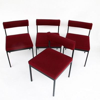 Set of 4 dining chairs by Dieter Waeckerlin for Idealheim, 1960s