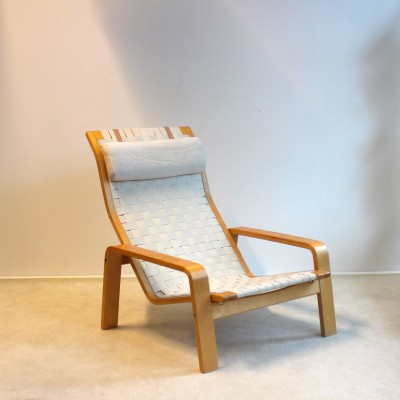 Pulka Plywood Lounge Chair lounge chair by Ilmari Lappalainen for Asko, 1960s