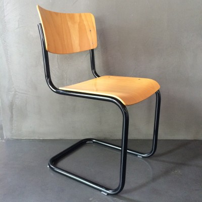 s43 dinner chair by mart stam for thonet 21465. Black Bedroom Furniture Sets. Home Design Ideas
