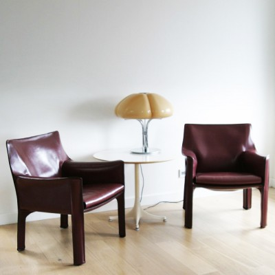Set of 2 CAB 414 lounge chairs from the seventies by Mario Bellini – Mario Bellini Chair