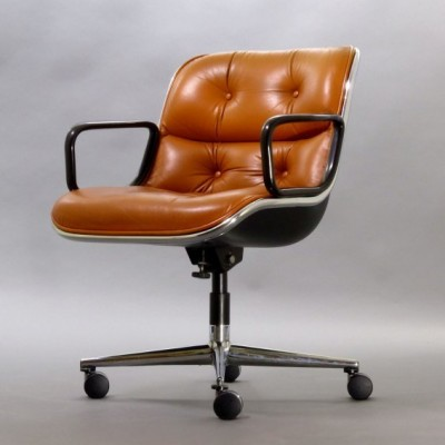 Executive Office Chair from the seventies by Charles Pollock for