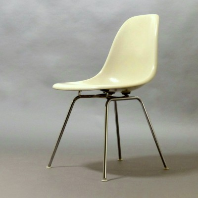 10 x Fiberglas DSX Sidechair dining chair by Charles & Ray Eames for Herman Miller, 1970s