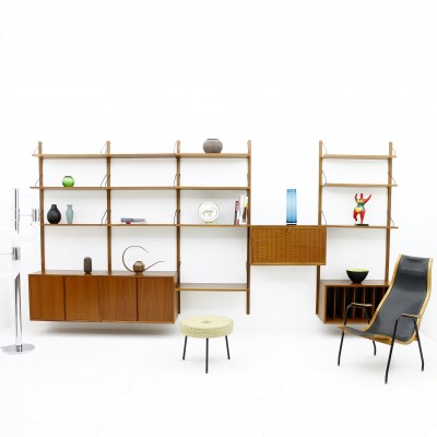 Royal Wall System Wall Unit by Poul Cadovius for Cado