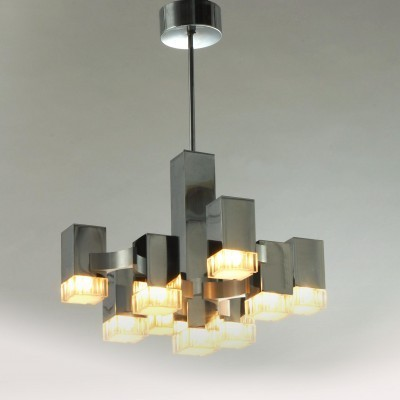 Cubic Hanging Lamp by Gaetano Sciolari for Unknown Manufacturer