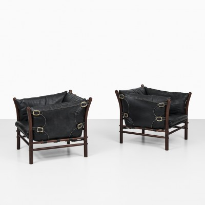 Ilona Lounge Chairs By Arne Norell, Arne Norell Ilona Chair
