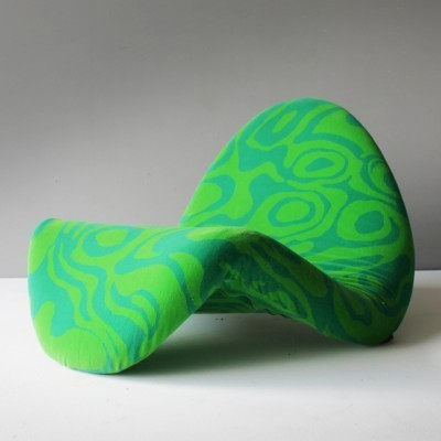 Tongue Chair Nr. 577 Lounge Chair by Pierre Paulin and Jack Lenor Larsen for Artifort