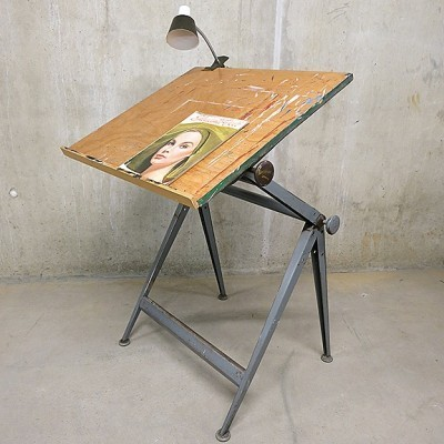 Drawing Table Writing Desk by Friso Kramer and Wim Rietveld for Ahrend de Cirkel