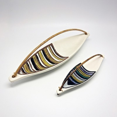 Ceramic Plats by Roger Capron for Capron, 1960s