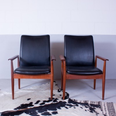Diplomat Lounge Chair by Finn Juhl for France and Son