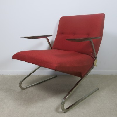 lounge chair by pierre guariche for steiner meubles 1950s 24711. Black Bedroom Furniture Sets. Home Design Ideas