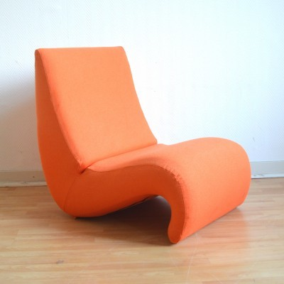 amoebe lounge chair by verner panton for vitra 24882. Black Bedroom Furniture Sets. Home Design Ideas