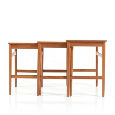 AT-40 Nesting Table by Hans Wegner for Andreas Tuck