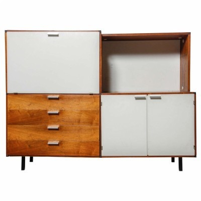 Highboard with Bar element Sideboard by Cees Braakman for Pastoe